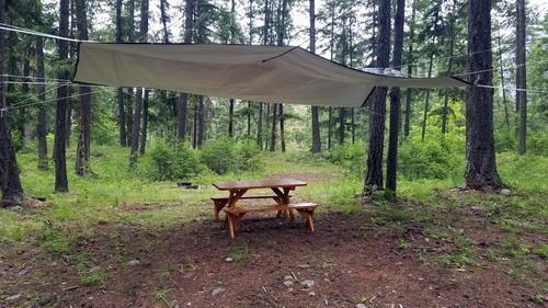 rain sheltered picnic table