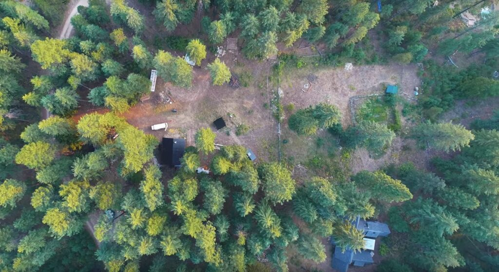 aerial view of valhalla pines